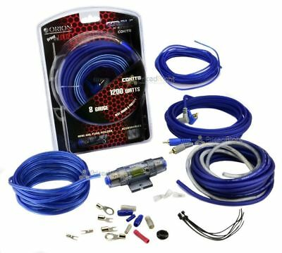 8 Gauge Amp Kit Amplifier Install Wiring Complete 8 Ga Installation Cables 1200W