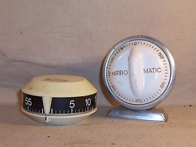 Vintage Mirro Matic and Intermatic Kitchen Timer 50s 60s 70s Parts Repair Lot