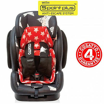 New Cosatto Hug Group 123 Reclining Carseat Adjustable Baby Car Seat Hipstar