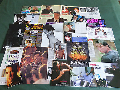 Keanu Reeves -  Film Star - Clippings /cutting Pack