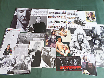 Mickey Rourke  -  Film Star - Clippings /cutting Pack