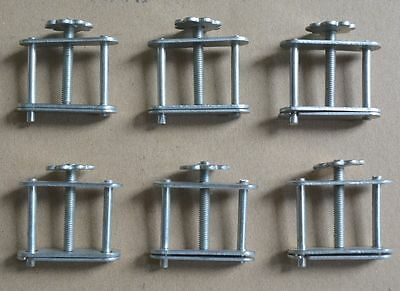 6x Lab Stainless Steel Water Hose Tubing Pipe Screw Clamps Compressor Clips Tool
