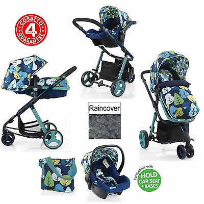 New Cosatto Woop Travel System Baby Pram Pushchair Stroller Nightbird