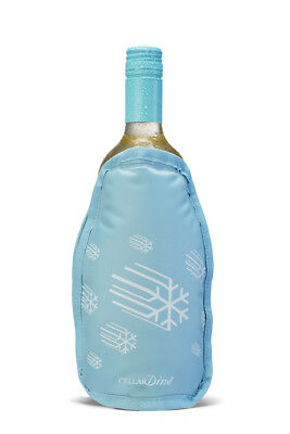 Cellardine Flexicles Wine Bottle Chiller w removable Ice Mat Cooler Cool Sleeve