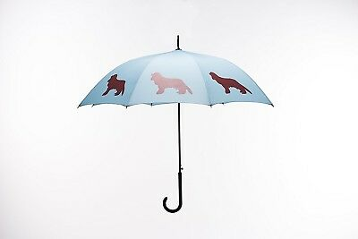 San Francisco Umbrella Co. Lapis Blue/Red Cavalier King Charles Spaniel Design P