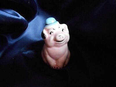 Vintage Collectible Miniature Pig with Hat