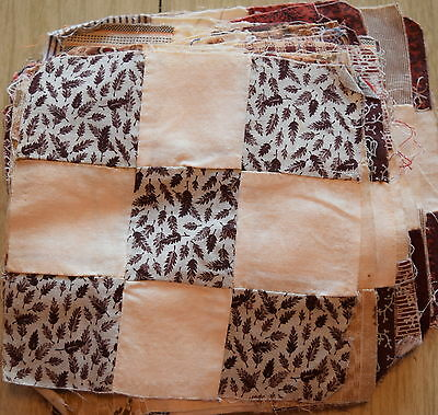 25 1870-90's quilt blocks, beautiful small 9 Patch, lots of fabulous prints
