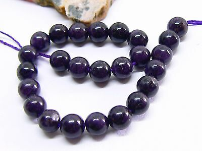 25 RARE NATURAL UNTREATED AFRICAN PURPLE SUGILITE ROUND BEADS 6mm TOP GRADE