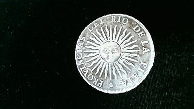 1813 Pts J Argentina 8 Reales Coin