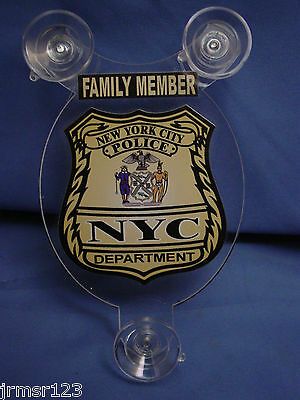 Nyc  New York City Police Family Member Car Shield  Pba Fop Dea