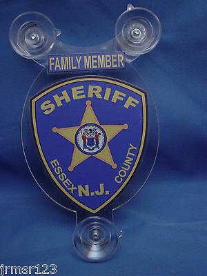 Essex County Nj  Sheriff-  Police -Family Member Car Shield  Pba Fop