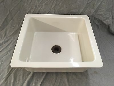 Vtg Ceramic Pottery White Kitchen Sink Basin Old Crane Trenton Plumbing 330-17E