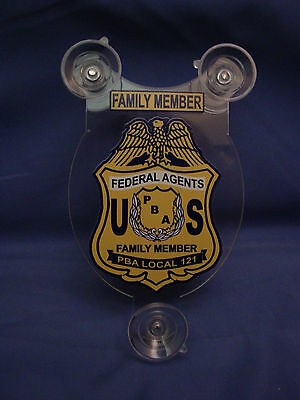 Federal Agents Pba 121  Family Member Car Shield  Pba Fop Dea