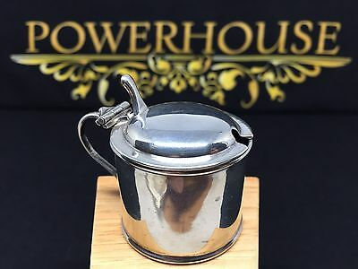 Silver Mustard Pot With Original Blue Liner Hallmarked Chester And Dated 1906