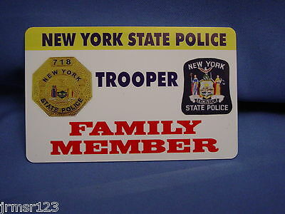 Lifetime Nysp  New York State Police  Card Family Member Pba Fop