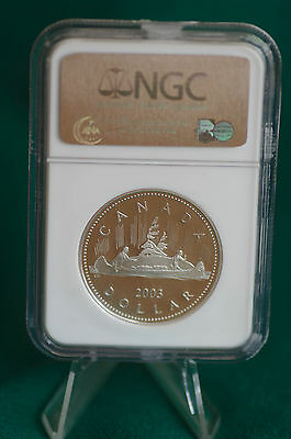 2003 Canada Queen's Coronation NGC PF69 Pure Silver proof dollar