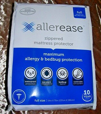 AllerEase Maximum Allergy and Bedbug Waterproof Zippered Mattress Protector Full