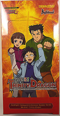 Cardfight Vanguard We Are Trinity Dragon Factory Sealed Extra Booster Box CHB02
