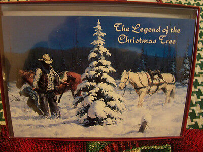 Leanin Tree  Christmas Cards Cowboy & Legend Of The Christmas Tree 10 Pk New !