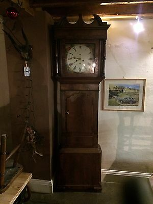 grandfather clock eight day movement mahogany case for restoration