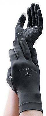 Tommie Copper Men's RECOVERY Compression Full Finger Gloves Black NEW!!