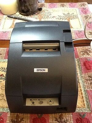 EPSON TM-U220D / M188D Kitchen Receipt Printer W/ Power Cord & Data Cable. Gray