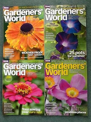 Bundle x 4 2014 BBC Gardeners World Subscribers Edition magazines