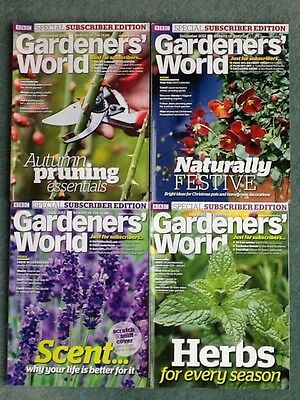 Bundle x 4 2012 BBC Gardeners World Subscribers Edition magazines