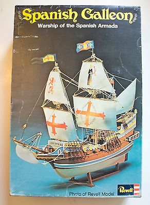 Vintage Model Revell Ship Spanish Galleon Warship of the Spanish Armada H-367