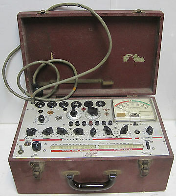 Vintage Hickok 600A Micromho Dynamic Mutual Conductance Tube Tester