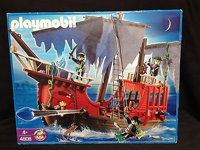 Playmobil Ghost Pirate Ship Set 4806 New Sealed Discontinued Model Kit
