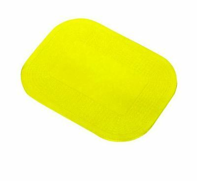 """Dycem Non-Slip Placemat Table Pad - Washable - Rectangle - 7.25"""" X 10"""" - Yellow"""