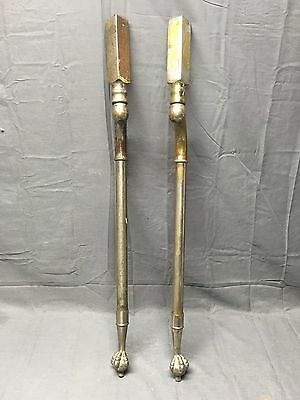 Antique Nickel Brass Marble Sink Legs Support Claw Foot Old Vtg Bathroom 337-17E