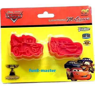 Disney Pixar Cars Cookie Mold Plunger Press Cutter Stamper Set Lightning McQueen