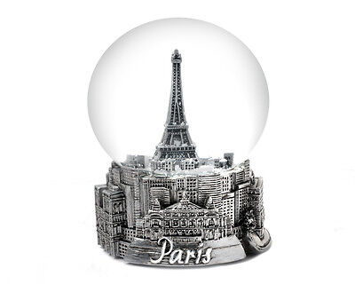 Paris In Silver - Exclusive 65Mm Snow Globe-New