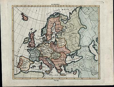 Europe Germany Austria-Hungary Spain France Italy c.1780 old antique map