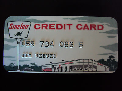 Jim Reeves Sinclair Gas Credit Card