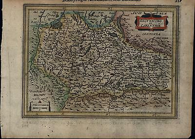Saltzburg Salzburg Austria-Hungary Germany antique c.1628 Mercator minor old map