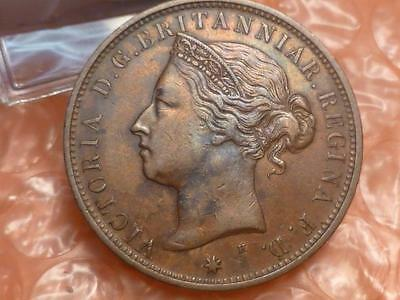 1877 States of Jersey 1/12 Shilling Coin #2