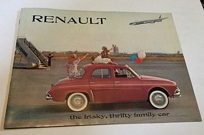 (2) RENAULT Brochures, 1960-61?, Full Color, Excellent Condition