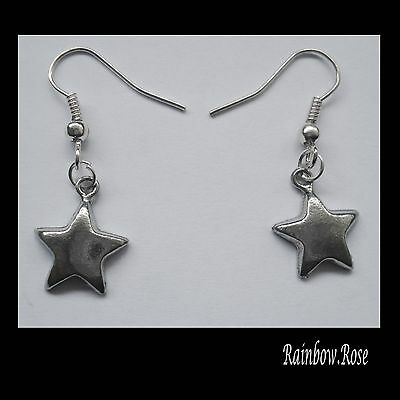 Earrings #2308 Pewter LITTLE STAR (15mm x 12mm)