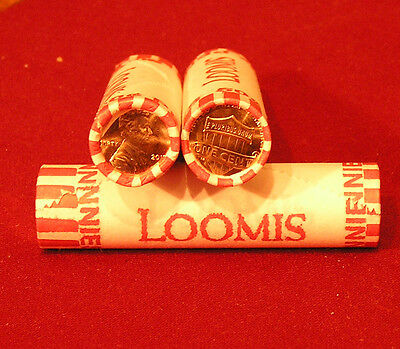 2 ROLL of 2015 P&D UNION SHIELD GEM BU LINCOLN CENT PENNY ROLL