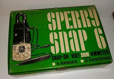 NEW SPERRY SNAP-6 OHM-300 Volt-Ohm-Ammeter Snap-On Clamp On In Box & Energizer A