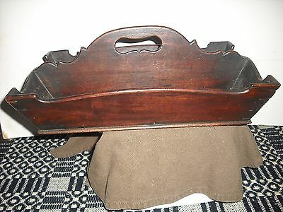 Fancy Early  Shaped Wood Cutlery Tray Knife Box