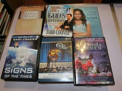 AUDIOBOOK Christian Religious Self Help lot of 40 Cd, Cassette And Dvd