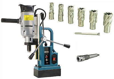 "Steel Dragon Tools® MD25 Magnetic Drill Press with 7pc 1"" Large Size Cutter Kit"