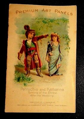 graphic Victorian trade card advertising Red Cross Starch