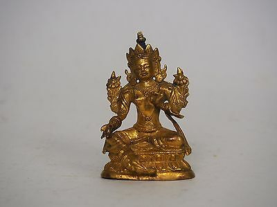 A Gilt Bronze Figure of Green Tara