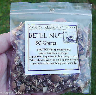 BETEL NUT 50g Wicca Witch Pagan Goth PROTECTION & BANISHING