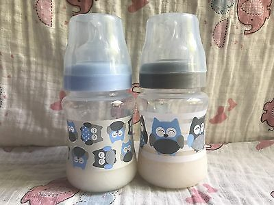 Lot Of 2 Reborn Baby Bottles * Sealed And Filled W/ 4 Oz Fake Faux Baby Formula